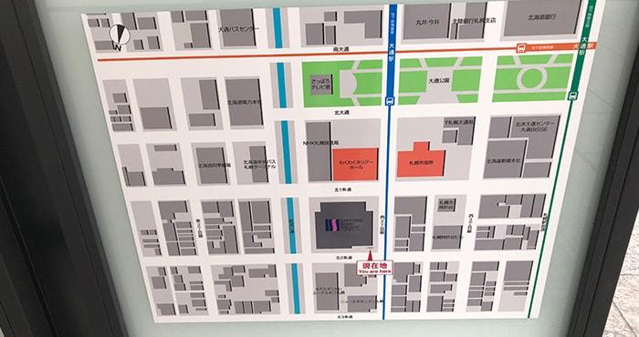 札幌創成スクエア近隣地図