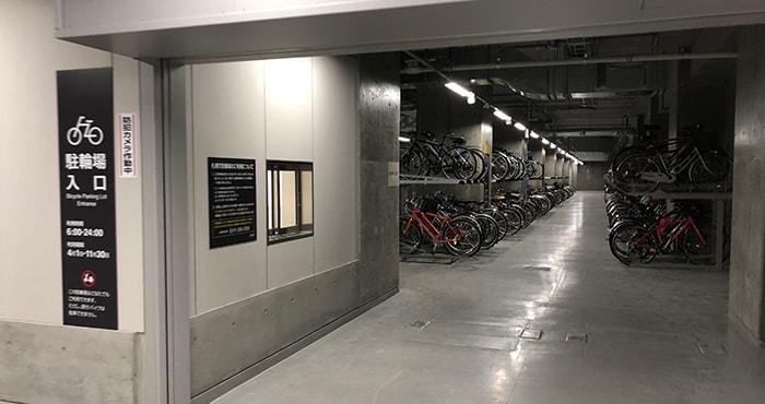 さっぽろ創世スクエア無料駐輪場